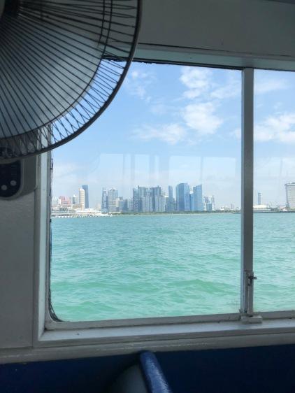 Looking back towards Singapore